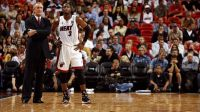 Pat Riley raves about Dwyane Wade, but avoids all contract talk